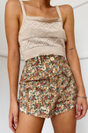 Marguerite Shorts - Orange Floral
