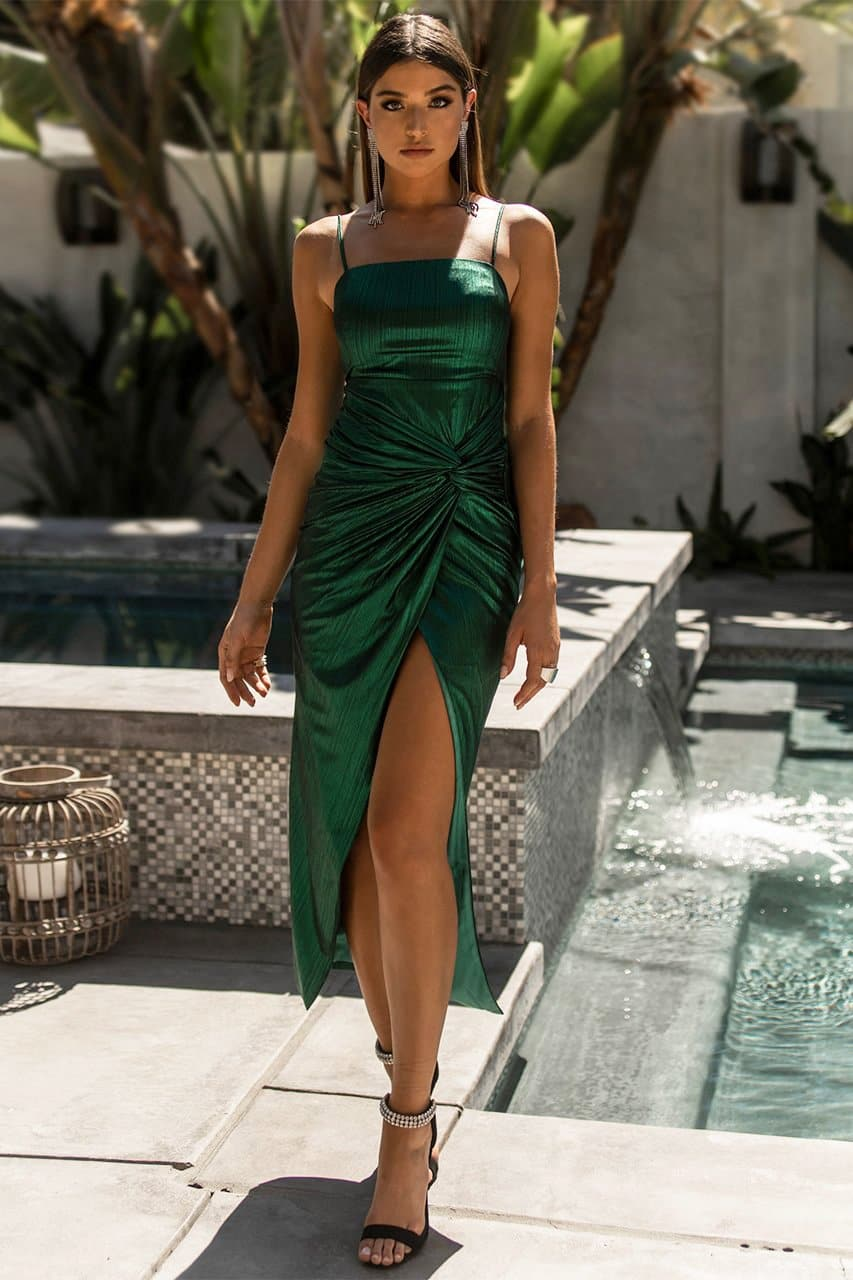 Onyx Twist Dress - Jade