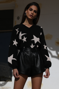 SHOOTING STAR SWEATER - BLACK
