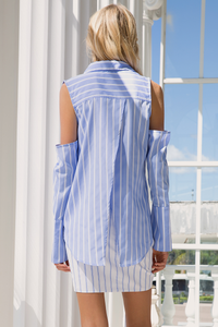 Strictly Business Shirt - Blue Stripe