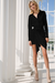 Risky Business Shirt Dress - Black
