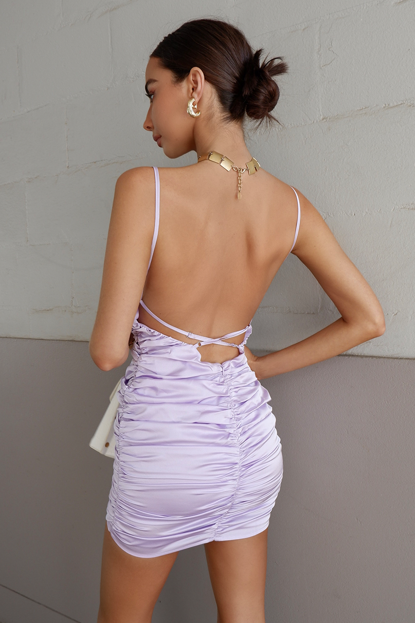 Back it up Dress - Lilac