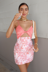 Cartier twist Front Dress - Pink