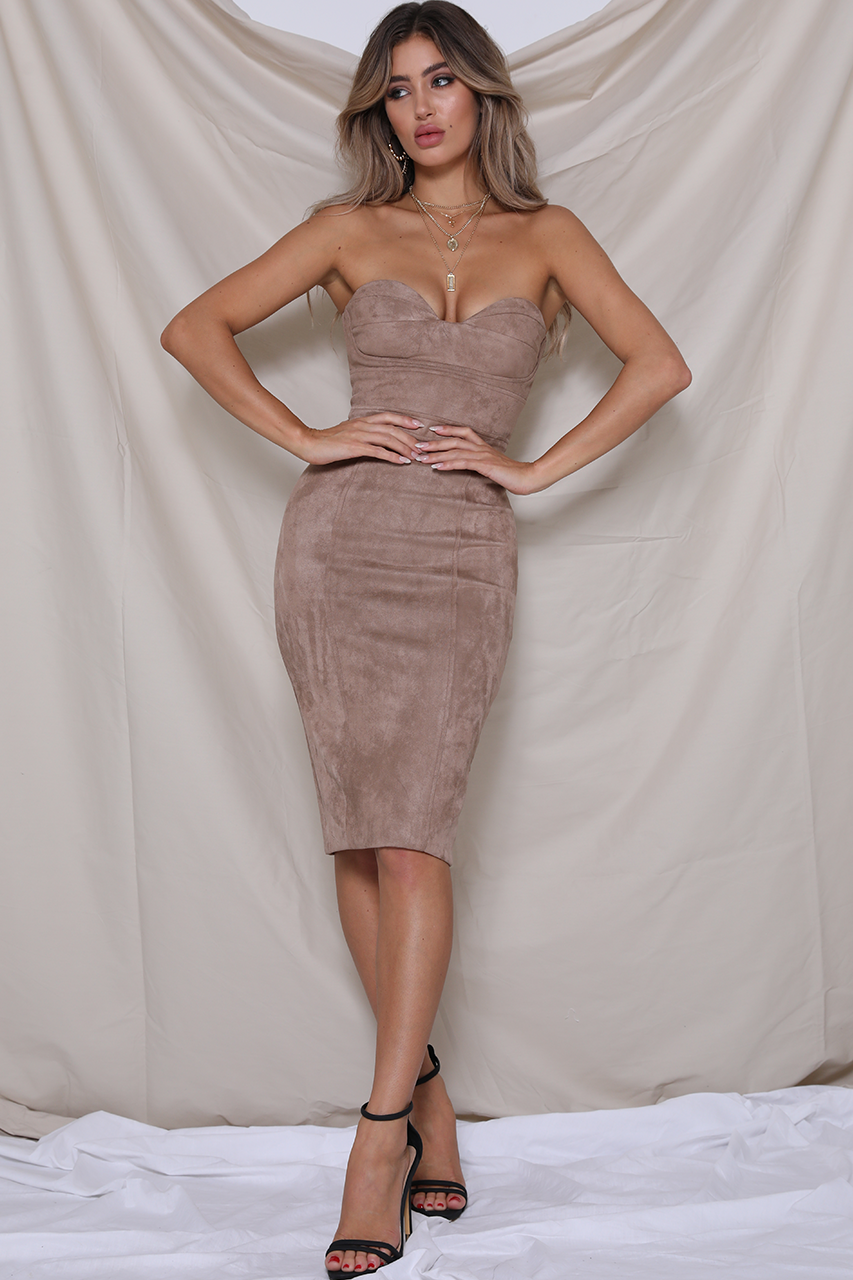 RADAR MIDI DRESS - ROSE GOLD