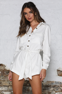 Lena Playsuit-White
