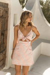 Skylar Dress - Pink Gingham
