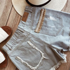 SAHARA DENIM SHORTS - BLUE