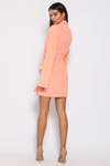 AVA BLAZER DRESS - PEACH