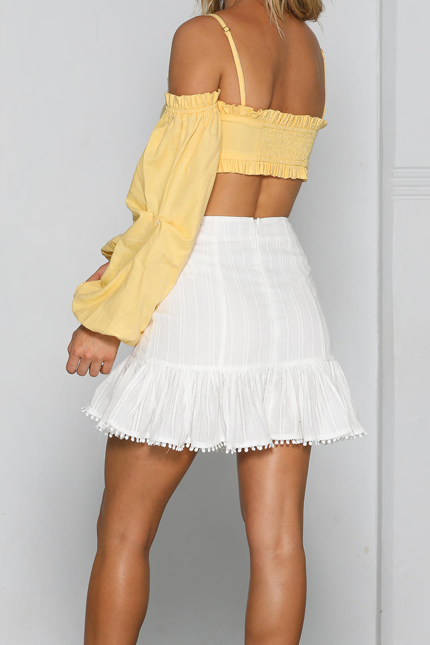 KELBY TOP-YELLOW