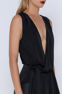 NURI MAXI TOP - BLACK