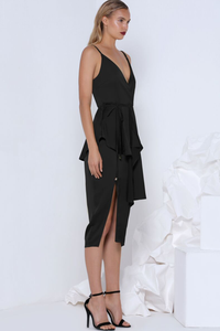 PIA COCKTAIL DRESS - BLACK