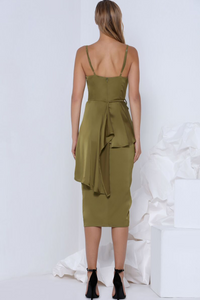 PIA COCKTAIL DRESS - OLIVE