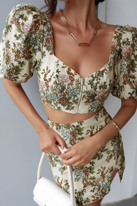 Cleo Top - Ivory Floral