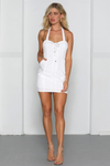 LACEY DRESS-WHITE