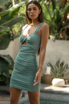 Zora Twist Dress - Teal