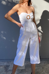 Teak Jumpsuit - White
