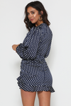 NYANE DRESS-NAVY SPOT