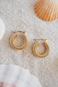 Rope Earrings - Gold