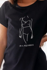 Aquarius Tee - Black