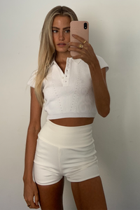 Adella Knit Top - White