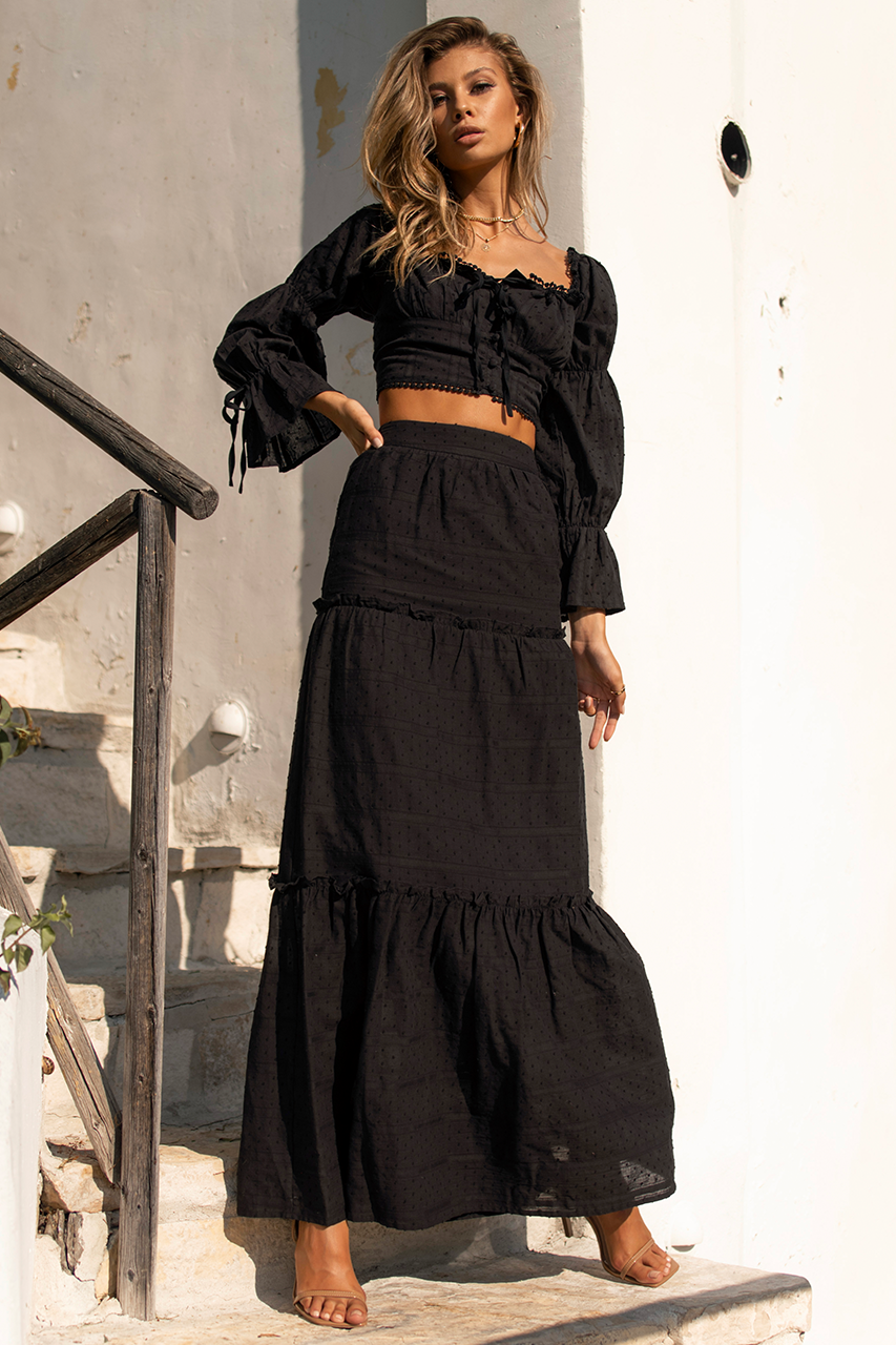 Analia Maxi Skirt - Black