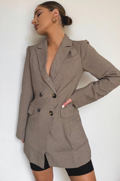 Angie Blazer - Brown Check