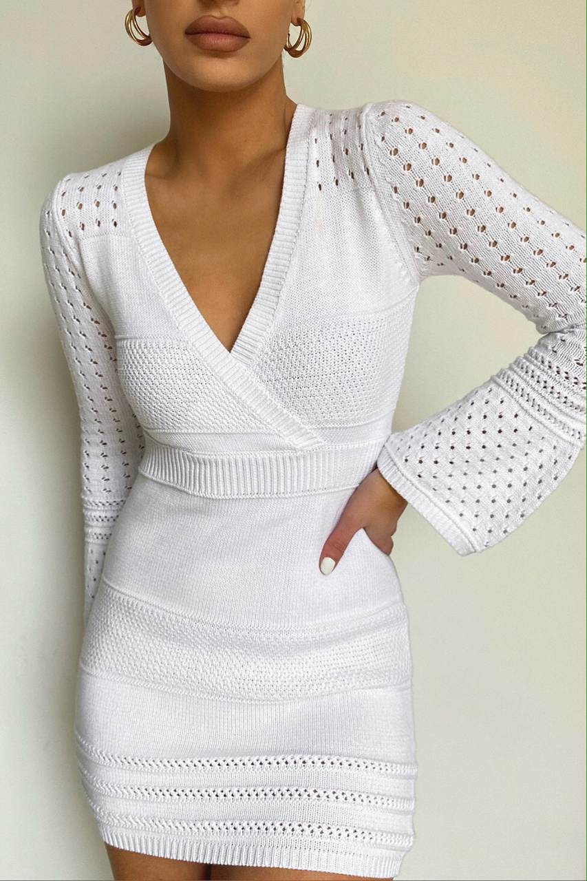 Arlo Knit Dress - White