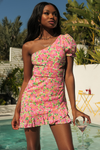 Asuka Dress - Pink/Green Floral