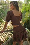 Aviva Cropped Top - Chocolate