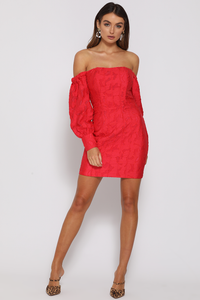 NATALIA MINI DRESS - RED