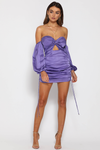 POUFFE SLEEVE MINI DRESS-VIOLET