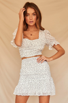 Carmella Skirt-White Spot