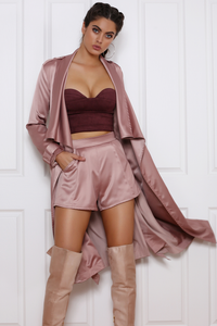 Baseline Duster Coat - Rose Gold