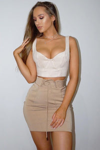 BASEMENT MINI SKIRT - WALNUT