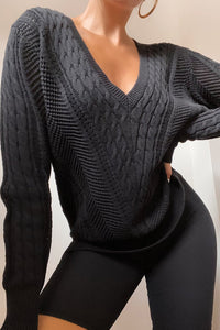 Rashida Knit Jumper - Black