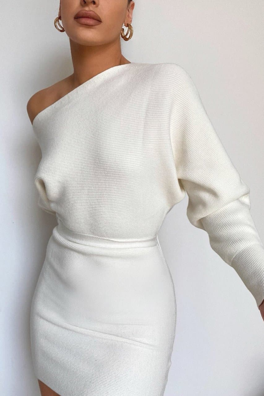 Bohdi Knit Dress - Off White