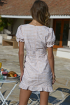 Bree Ruched Dress - Sand Check
