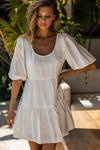 Brinley Babydoll Dress - White