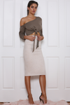 Brooklyn Midi Skirt - Sand