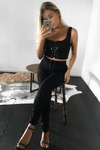 BUCKLEY CROP - BLACK