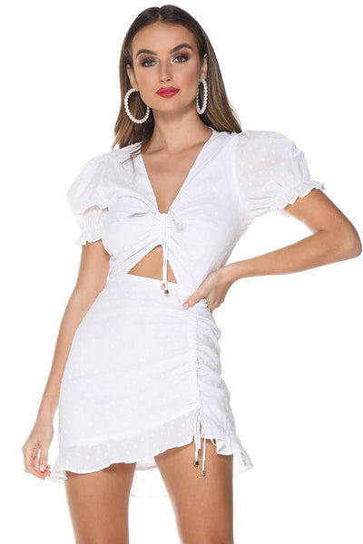 DITSY MINI DRESS - WHITE