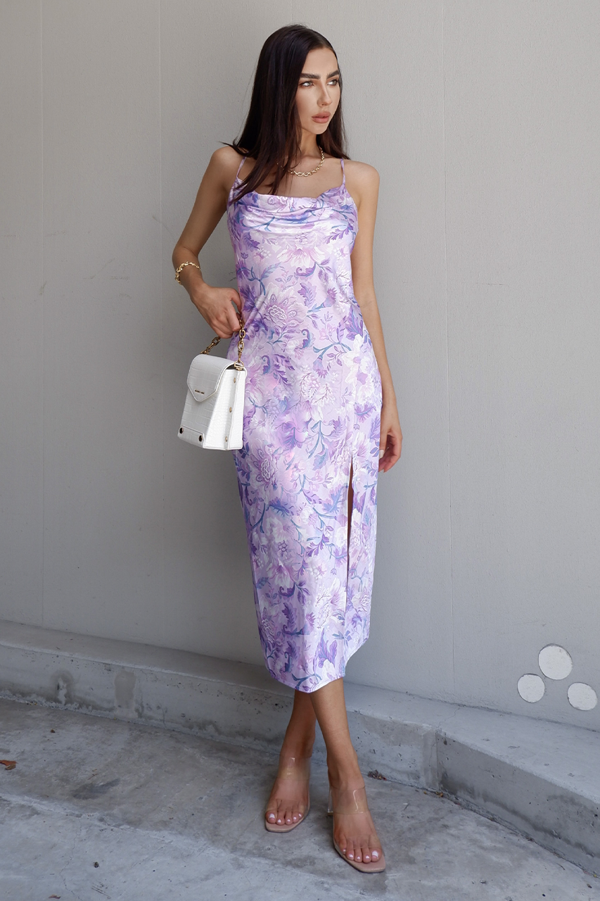Calantha Slip Dress - Lilac Floral