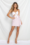 CANDY MINI SKIRT - RED STRIPE