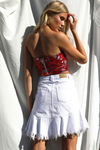 China Doll Bustier-Red Print