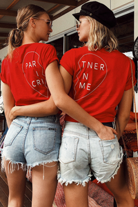 Partner In Crime Tee (Left) - Red