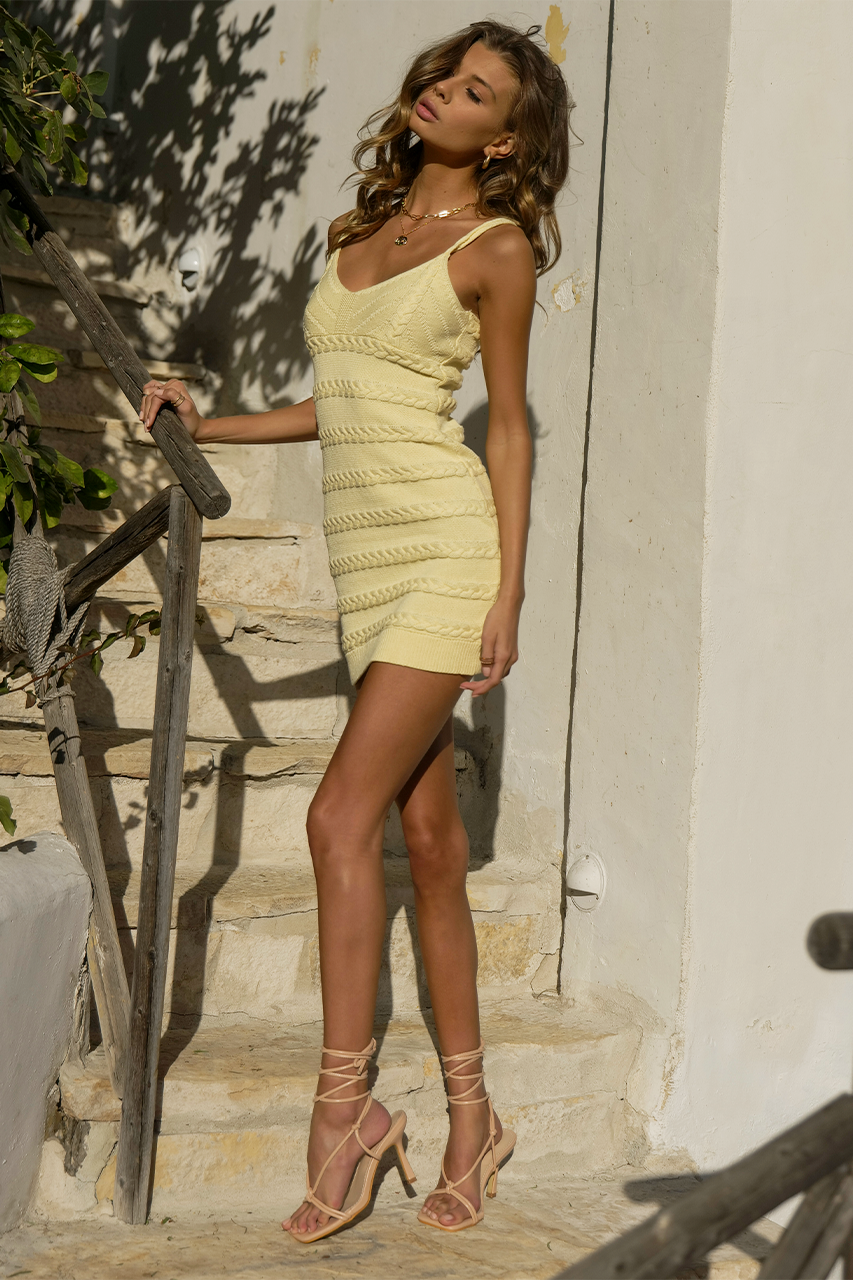 Dukes Mini Dress - Lemon