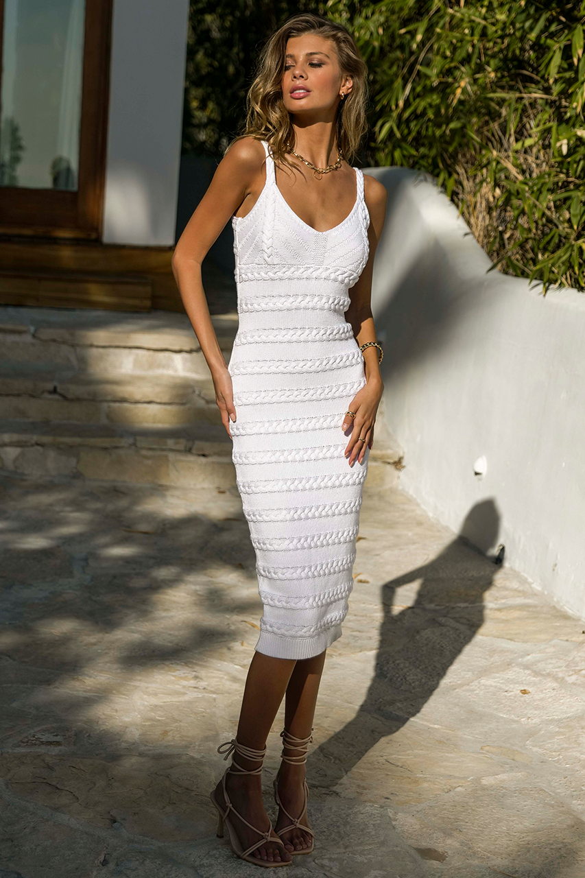 Dukes Midi Dress - White