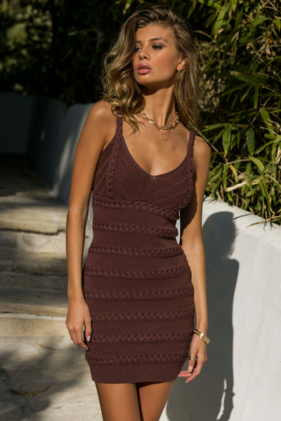 Dukes Mini Dress - Chocolate