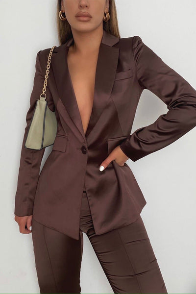 Effie Blazer - Chocolate