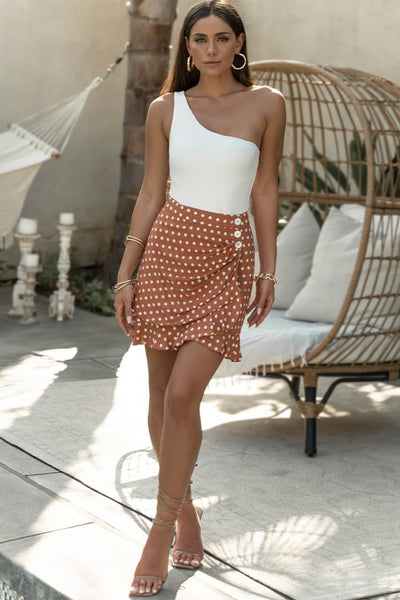 Emilia Mini Skirt - Rust Spot